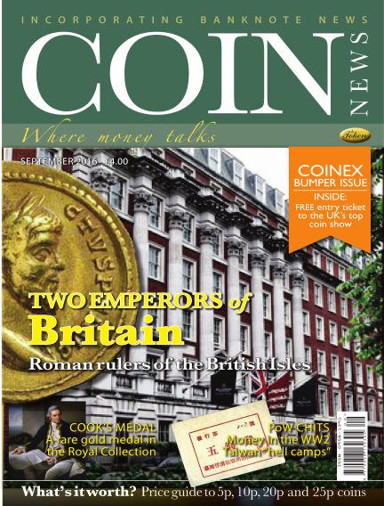 Coin News August 31, 2016 00:00