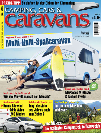 Camping, Cars & Caravans June 21, 2016 00:00