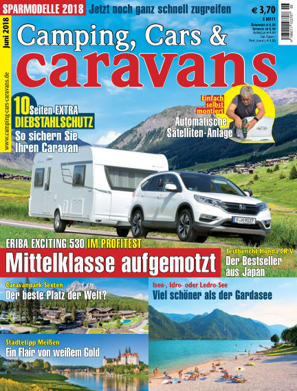 Camping, Cars & Caravans May 11, 2018 00:00