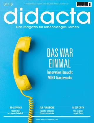 didacta – Das Magazin für lebenslanges Lernen 04/18