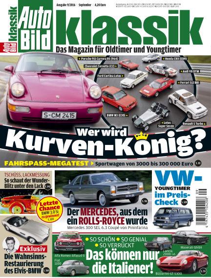 AUTO BILD KLASSIK August 05, 2016 00:00