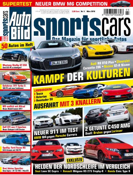 AUTO BILD Sportscars February 05, 2016 00:00