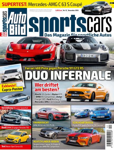 AUTO BILD Sportscars November 09, 2018 00:00