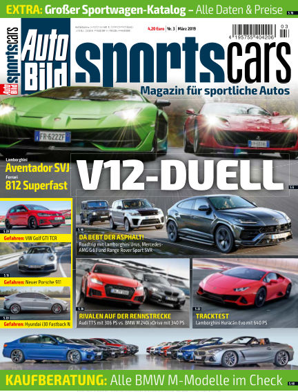 AUTO BILD Sportscars February 08, 2019 00:00