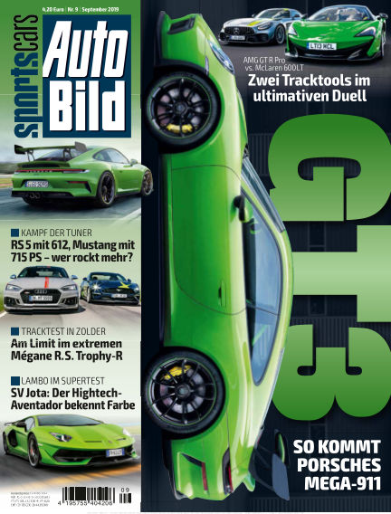 AUTO BILD Sportscars August 09, 2019 00:00