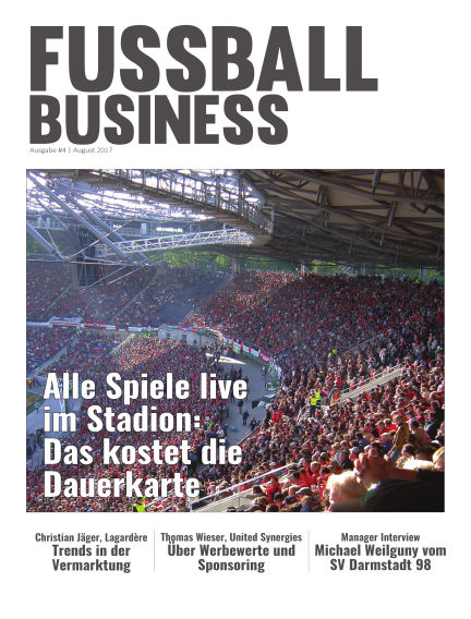 FOOTBALL BUSINESS Magazine August 04, 2017 00:00