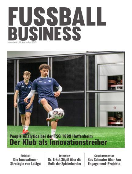 FOOTBALL BUSINESS Magazine September 18, 2019 00:00