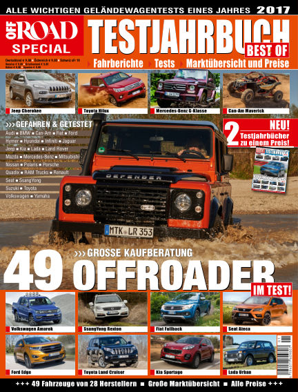 Testjahrbuch OFF ROAD / SUV Magazin