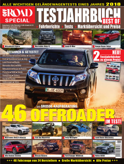 Testjahrbuch OFF ROAD / SUV Magazin February 13, 2018 00:00