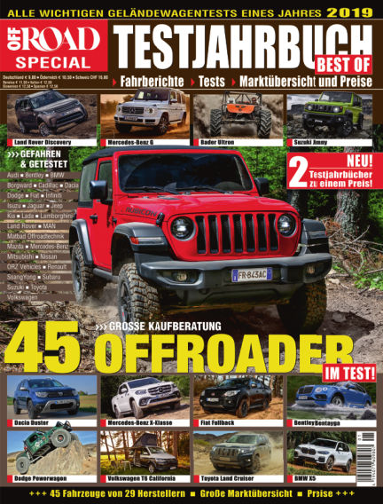 Testjahrbuch OFF ROAD / SUV Magazin March 12, 2019 00:00
