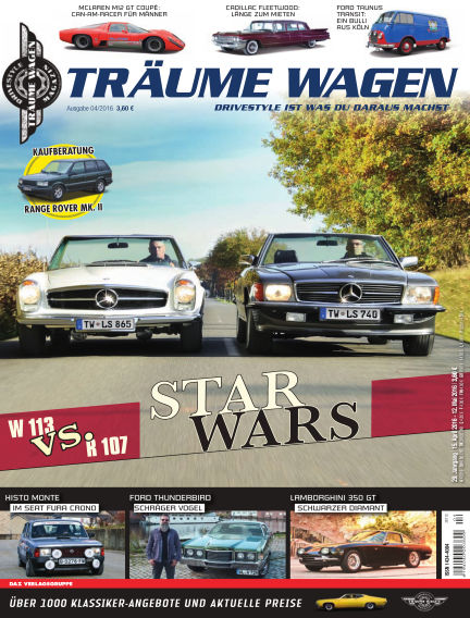 TRÄUME WAGEN April 15, 2016 00:00