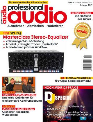 Professional audio Magazin Nr 01 2017