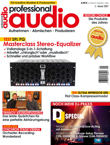 Professional audio Magazin January 17, 2017 00:00