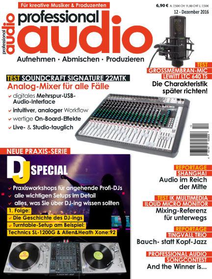 Professional audio Magazin November 23, 2016 00:00