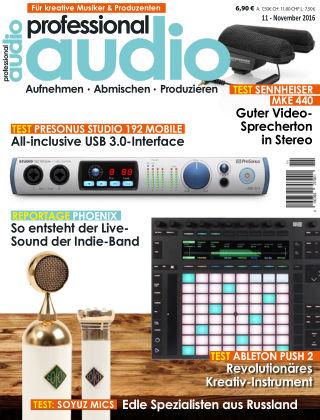 Professional audio Magazin Nr 11 2016