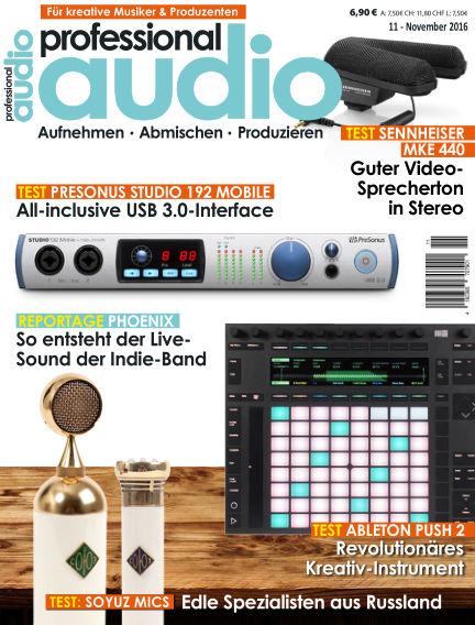 Professional audio Magazin October 25, 2016 00:00