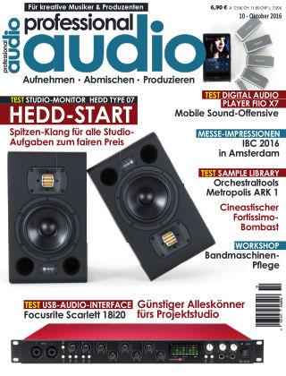 Professional audio Magazin Nr 10 2016