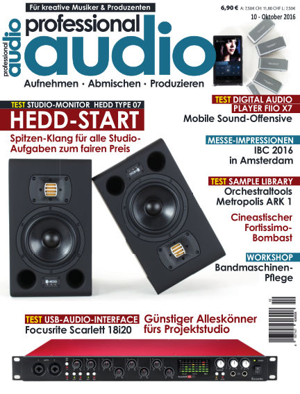 Professional audio Magazin September 27, 2016 00:00