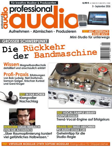 Professional audio Magazin August 23, 2016 00:00