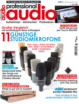 Professional audio Magazin Nr 07 2016
