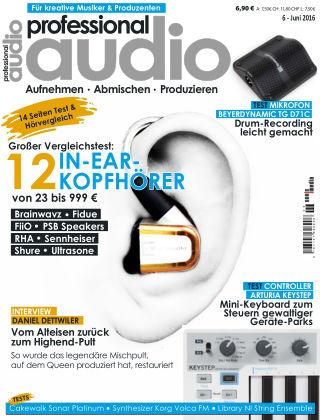 Professional audio Magazin Nr 06 2016