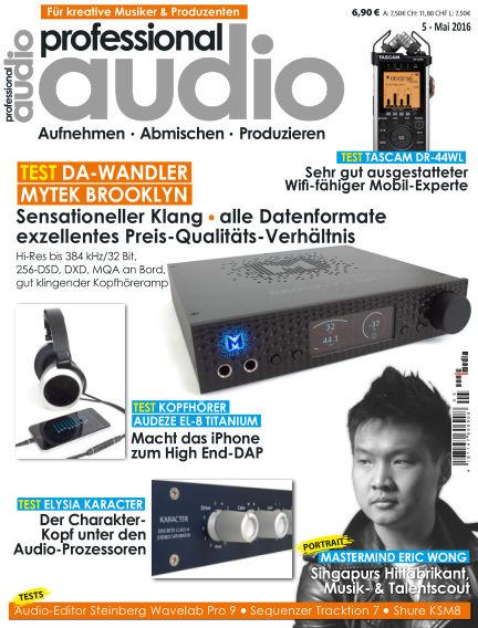 Professional audio Magazin April 26, 2016 00:00