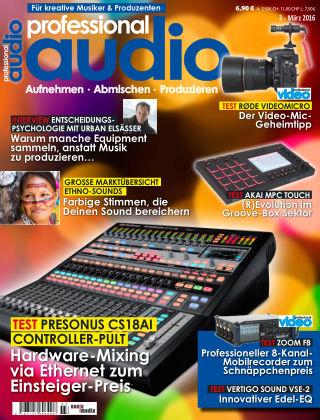 Professional audio Magazin Nr 03 2016
