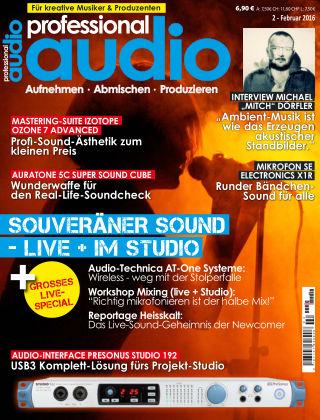 Professional audio Magazin Nr 02 2016