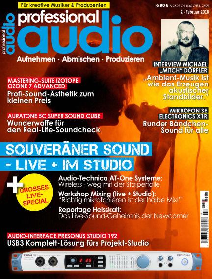 Professional audio Magazin January 29, 2016 00:00