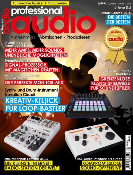 Professional audio Magazin December 18, 2015 00:00