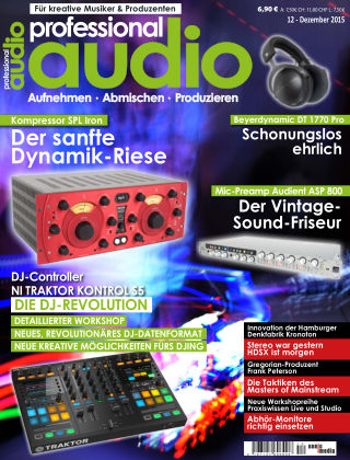 Professional audio Magazin Nr 12 2015
