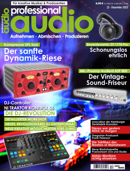 Professional audio Magazin November 27, 2015 00:00