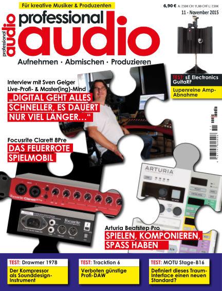 Professional audio Magazin October 30, 2015 00:00