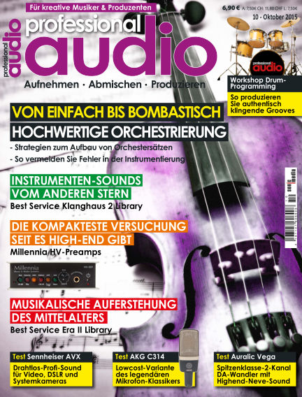 Professional audio Magazin September 25, 2015 00:00