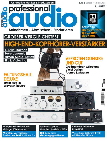 Professional audio Magazin June 26, 2015 00:00