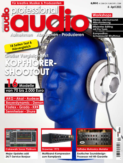Professional audio Magazin March 27, 2015 00:00