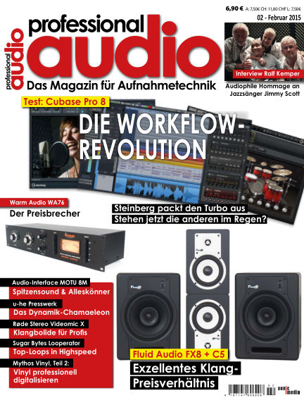 Professional audio Magazin January 30, 2015 00:00