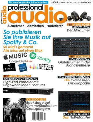 Professional audio Magazin Nr 10 2017