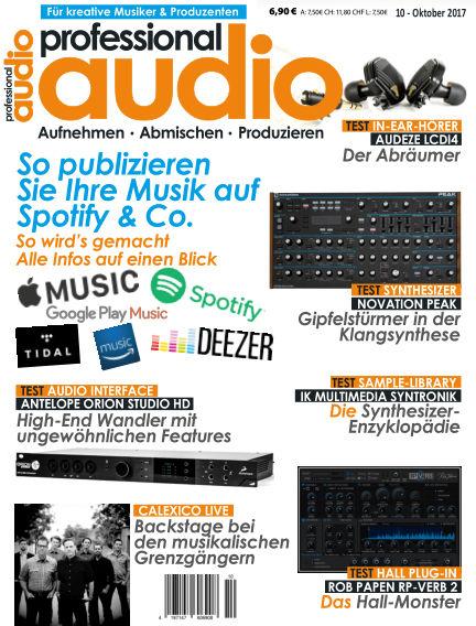Professional audio Magazin September 26, 2017 00:00