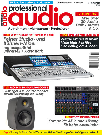 Professional audio Magazin October 24, 2017 00:00