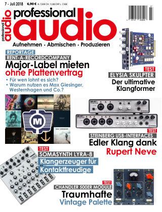 Professional audio Magazin Nr 07 2018