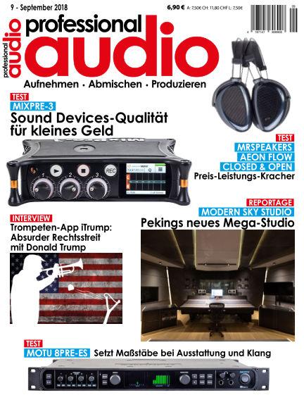 Professional audio Magazin September 04, 2018 00:00
