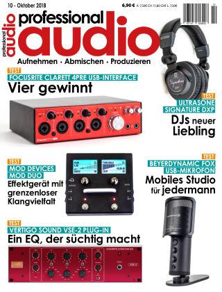 Professional audio Magazin Nr 10 2018