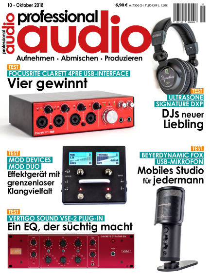 Professional audio Magazin September 25, 2018 00:00