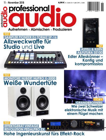 Professional audio Magazin October 23, 2018 00:00