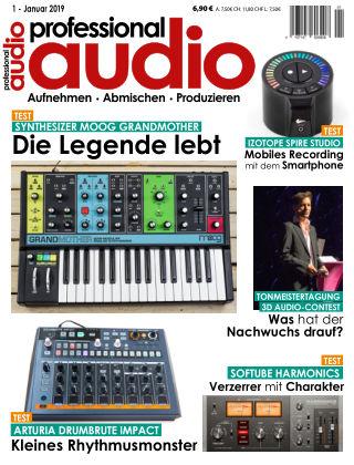 Professional audio Magazin Nr 01 2019
