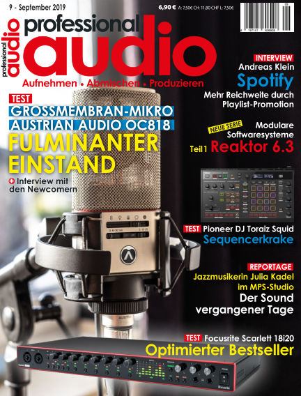 Professional audio Magazin August 30, 2019 00:00