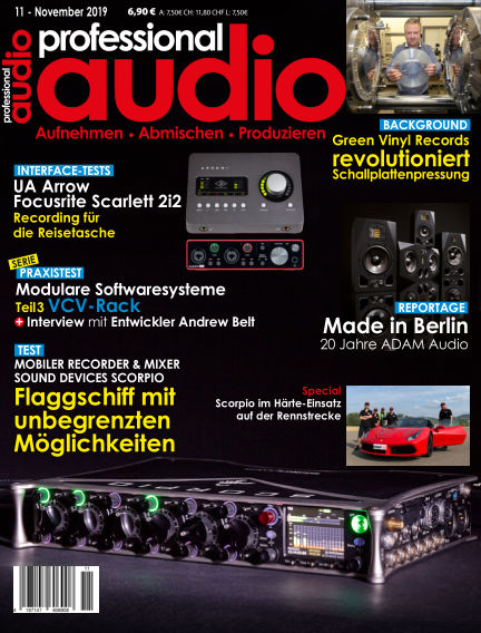 Professional audio Magazin October 22, 2019 00:00