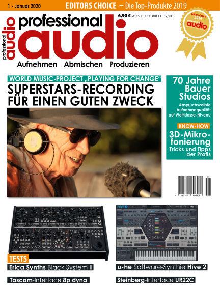 Professional audio Magazin December 24, 2019 00:00