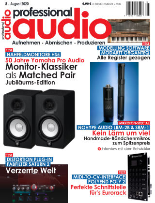Professional audio Magazin Nr 08 2020